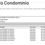 Tela de obrigações dos condomínios do Alterdata Immobile