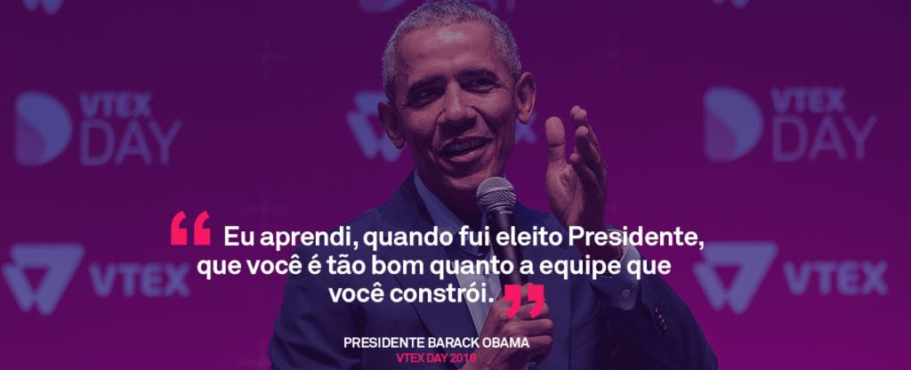 Barack Obama no VTEX Day
