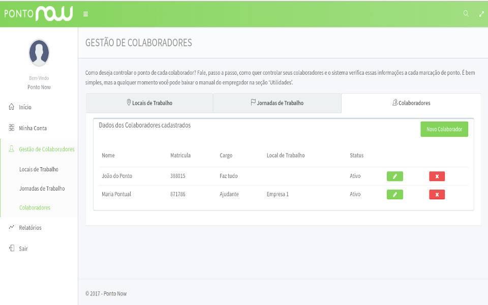 O Ponto Now é um sistema de ponto eletrônico para registro da jornada de colaboradores externos e internos