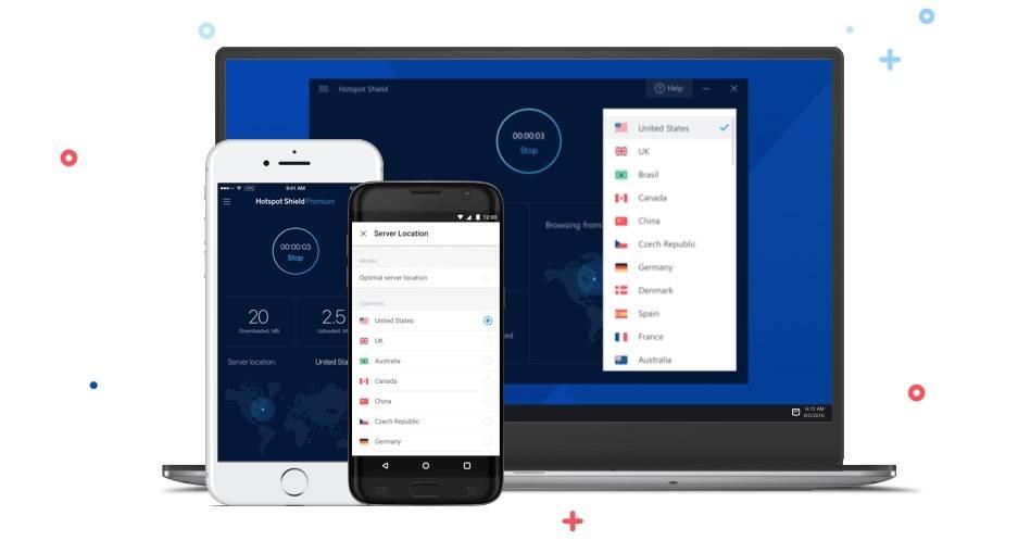 Tela do VPN Hotspot Shield