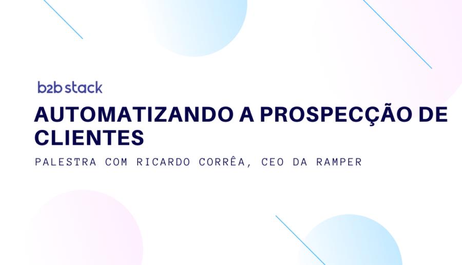 Capa palestra Ricardo Correa