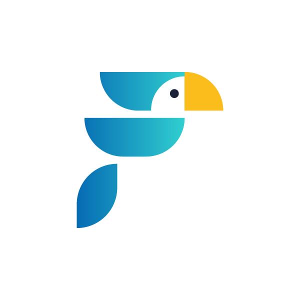 Logo no Feedz é um pássaro azul desenhado