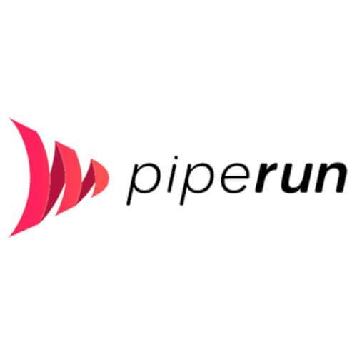 Logo do Piperun CRM nas cores preto e vermelho