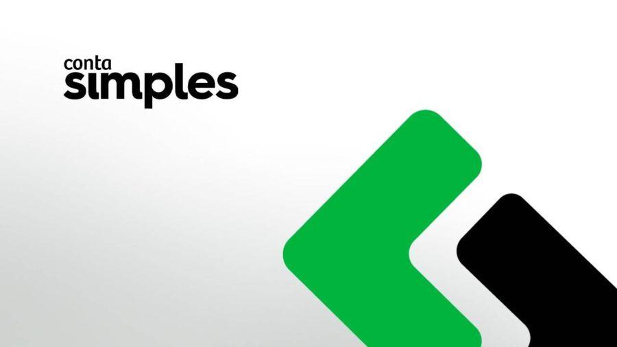 Logo do conta simples com cores preto e verde