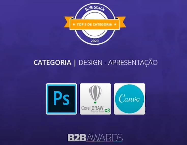 Os softwares de Design e Apresentação mais bem avaliados