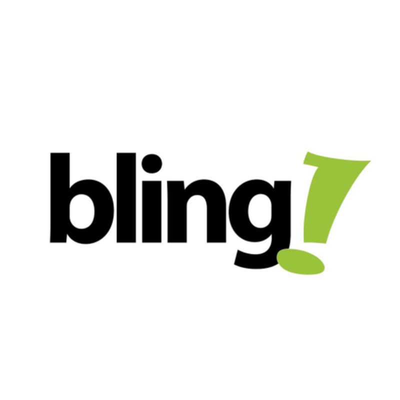 Logo do Bling ERP com letras em preto e verde