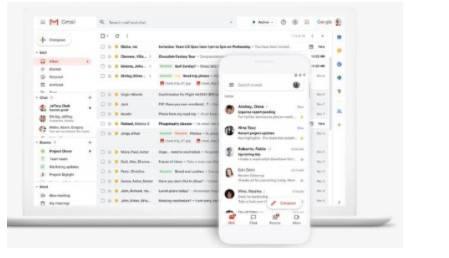 Tela de cadastro do Gmail