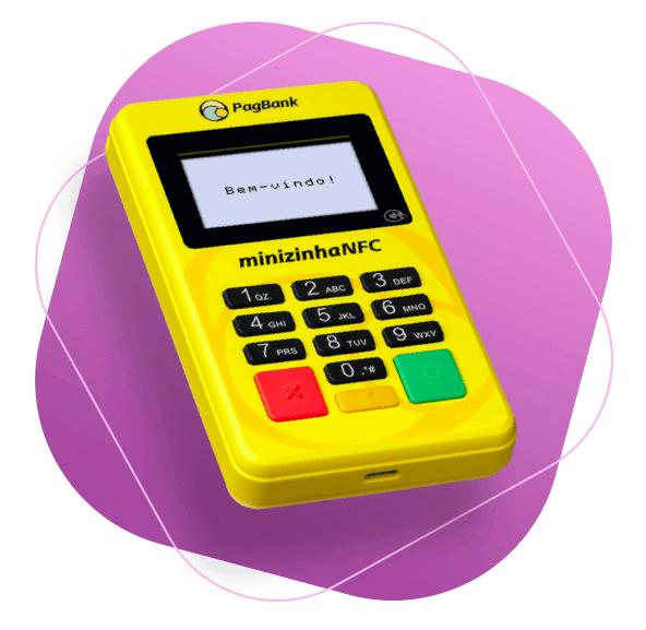 Imagem da máquina de cartão intitulada Minizinha NFC do Pagseguro