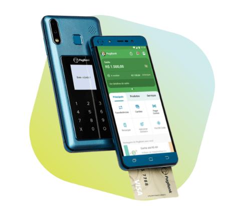 Imagem do PagPhone, celular com função de cartão de crédito do PAgSeguro