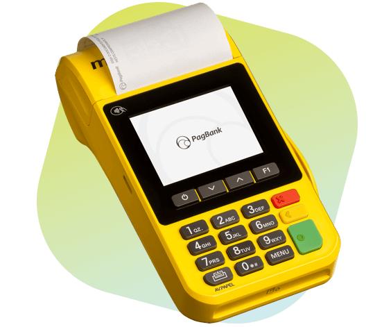 Imagem da máquina de cartão dp Pagseguro