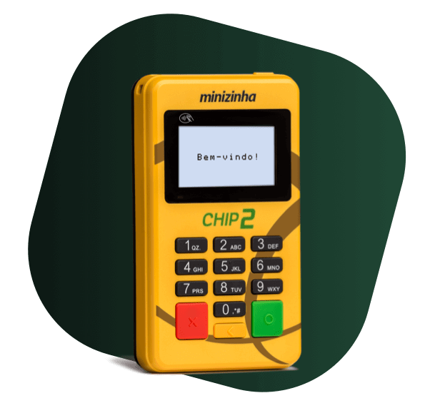 Imagem da máquina de cartão intitulada Minizinha Chip 2 do Pagseguro